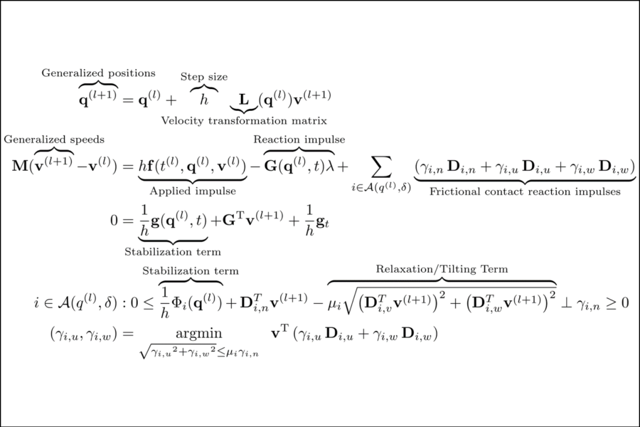 Equations that are typically used by the SBEL lab