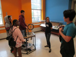 ProCSI 2017 group touring the physics lab