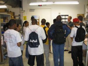 ProCSI 2008 members listen to a professor speak