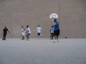 ProCSI 2008 members playing basketball