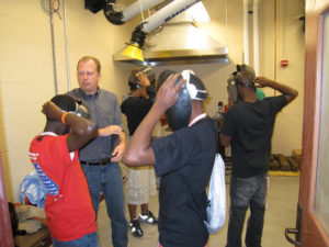 ProCSI 2009 members put welding masks on