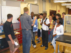 ProCSI 2009 members listen to a lab leader