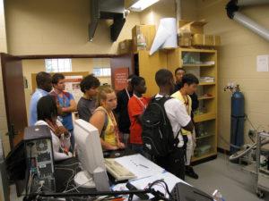 ProCSI 2009 members take a tour of a lab