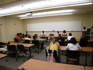 ProCSI 2009 members listen to a panel of current college students