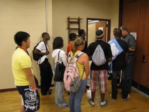 ProCSI 2009 members begin a lab tour