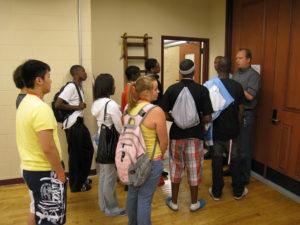 ProCSI 2009 members start a lab tour