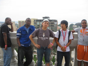ProCSI 2010 members pose for a photo on a balcony