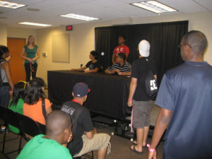 ProCSI 2010 members hold a mock press conference