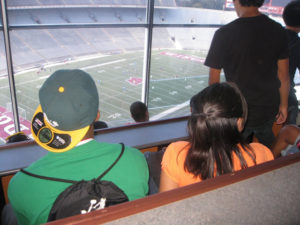 ProCSI 2010 members overlook the field at Camp Randall