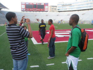 ProCSI 2010 members on a tour at Camp Randall