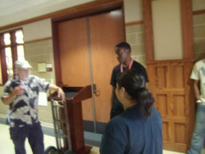 ProCSI 2011 members listen to a lab tour