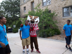 A ProCSI 2012 member poses with Bucky Badger