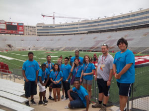 ProCSI 2012 members on the field at Camp Randall