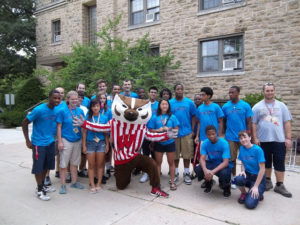 ProCSI 2012 members pose with Bucky Badger