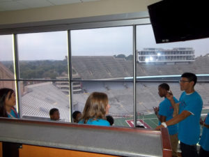 ProCSI 2012 members look at the field while touring Camp Randall