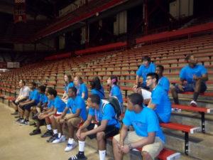 ProCSI 2012 members take a tour of the Fieldhouse