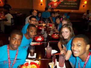 ProCSI 2012 pose while eating dinner