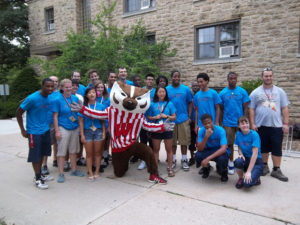 ProCSI 2012 group poses with Bucky Badger
