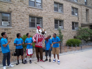 A group of ProCSI 2012 member poses with Bucky Badger