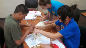 ProCSI 2013 members work on building a project