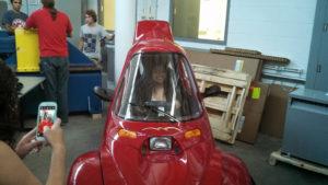 One ProCSI 2013 member volunteers to get in a car