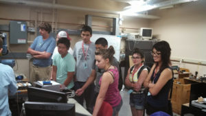 ProCSI 2013 members watch a lab demonstration