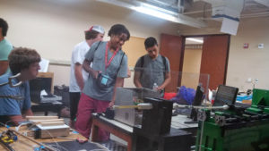 ProCSI 2013 members take a tour of a lab