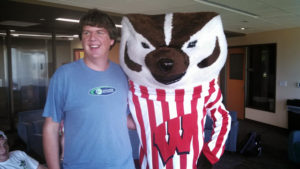 A ProCSI 2013 member poses with Bucky Badger