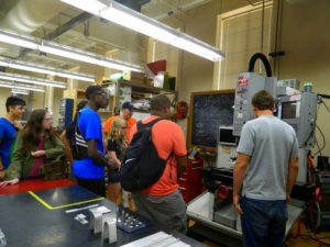 ProCSI 2014 members take a tour of a lab