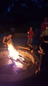 ProCSI 2015 members enjoy a campfire