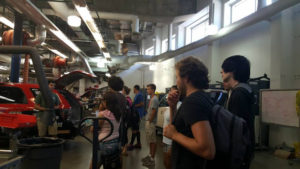 ProCSI 2015 members get a tour of a mechanical engineering lab
