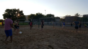 ProCSI 2015 members play a game of beach volleyball