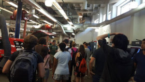 ProCSI 2015 members take a tour of a lab
