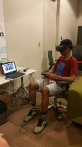 One ProCSI 2016 camper tests a virtual reality machine