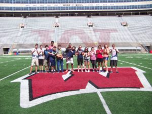 A group picture of the ProCSI 2016 group in Camp Randall
