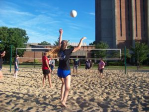 ProCSI 2016 campers play volleyball