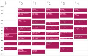 Calendar for ProCSI 2017