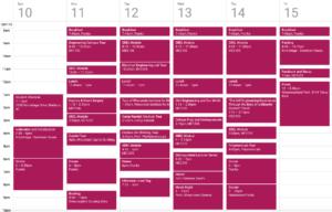 Schedule for ProCSI 2011