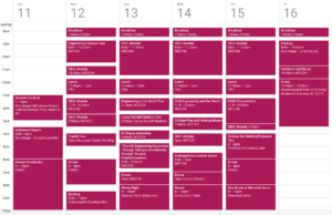 Schedule for ProCSI 2010